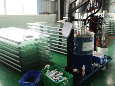 Glass glue sealing room