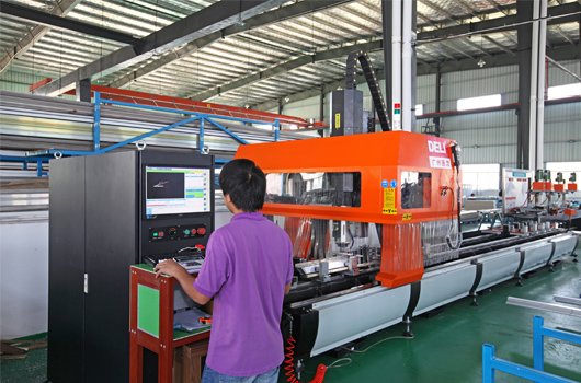 Aluminum material machining center